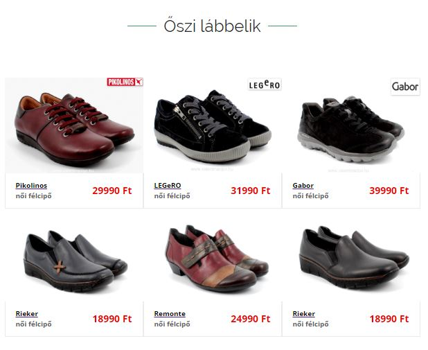 Minden cipő Cipők Budapest | Erni